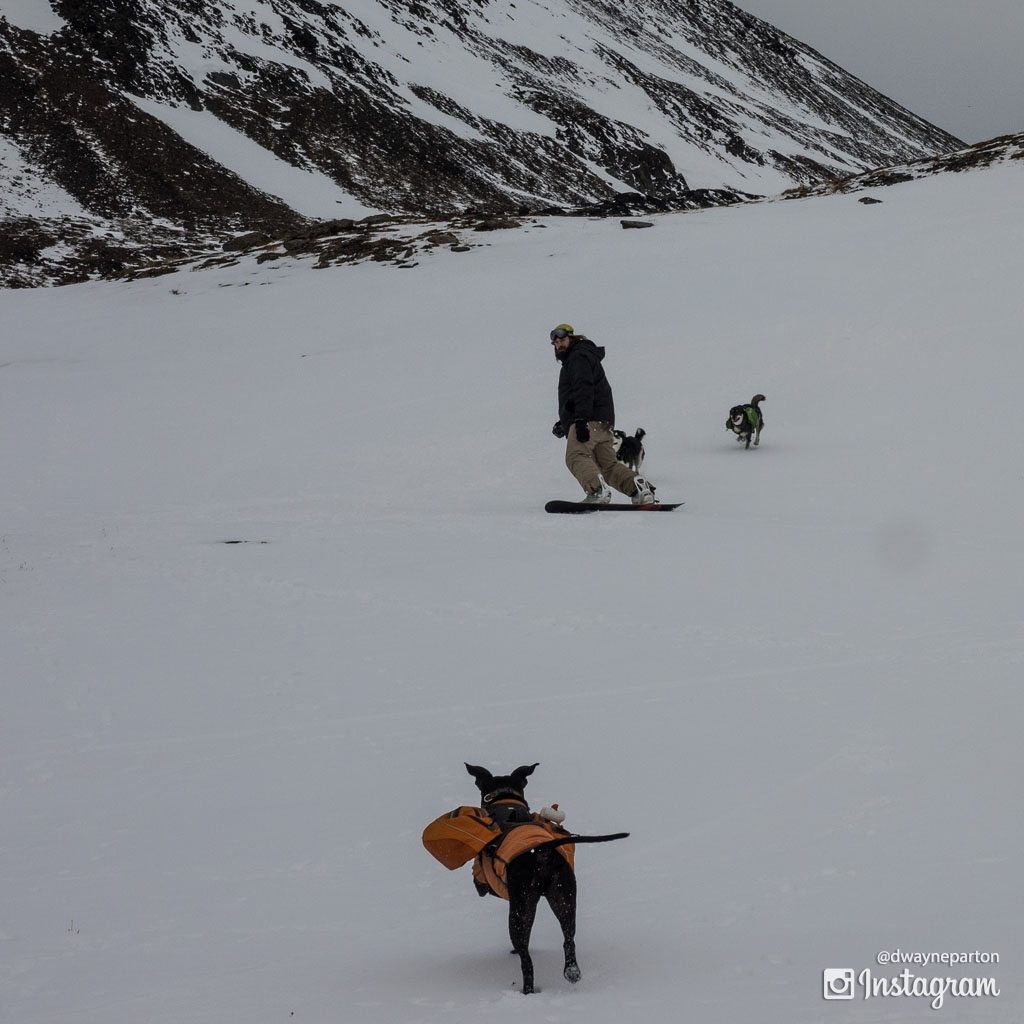 Backcountry Snowboarding at Crow Pass